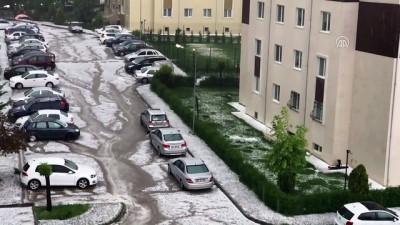 Başkentte kuvvetli sağanak - Gölbaşı'da dolu yağışı (8) - ANKARA