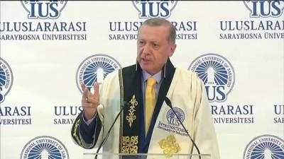 Cumhurbaşkanı Erdoğan: '2700 Filistinli sivilin yaralanmasını basit birkaç kınamayla savuşturuyorlar' - SARAYBOSNA
