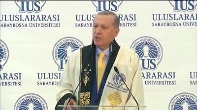 Cumhurbaşkanı Erdoğan: 'Bosna Hersek'in göstermiş olduğu kararlı dayanışmayı asla unutmayacağım' - SARAYBOSNA
