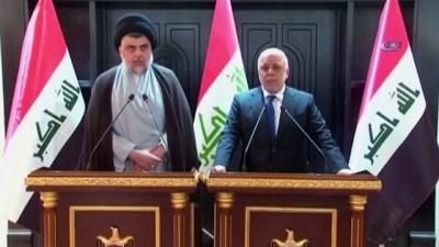 - Irak Başbakanı İbadi ve Mukteda Es-Sadr'dan koalisyon sinyali