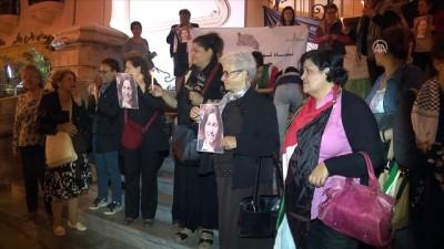 Tunuslu kadınlardan Filistin katliamları protestosu