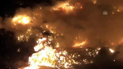 Bodrum çöplüğünde yangın - MUĞLA