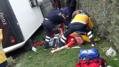 Kütahya'da otobüs kazası: 1 ölü, 16 yaralı