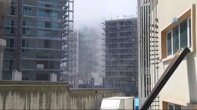 Lüks site inşaatında yangın paniği