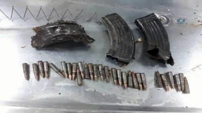 Etkisiz hale getirilen 8 teröristten çok sayıda patlayıcı ve mühimmat ele geçirildi