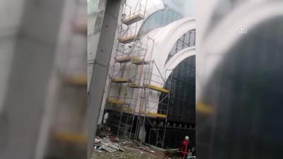 İTÜ cami inşaatında yangın - İSTANBUL Haberi