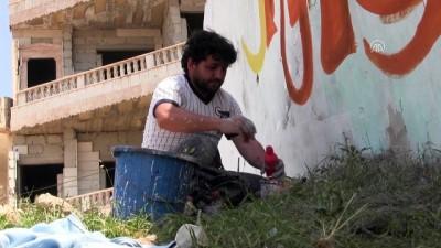 Kudüs ve Gazze'ye grafitili destek - İDLİB Haberi