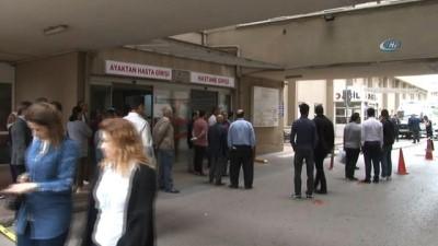Ümraniye Devlet Hastanesi'nde dehşet: 1 ağır yaralı