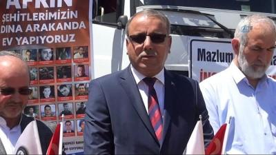 Afrin'e 6 tır insani yardım malzemesi gönderildi