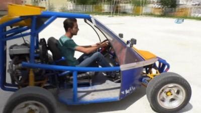 Lise öğrencisi hurdadan topladığı malzemelerle arazi aracı yaptı
