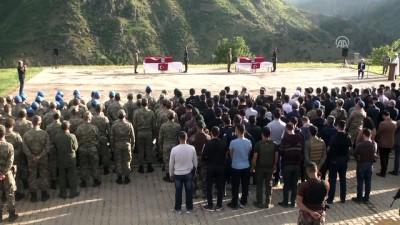 Şehit korucular için Şemdinli 34. Hudut Tugay Komutanlığı'nda tören düzenlendi - HAKKARİ