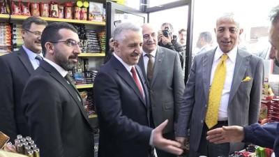 yangin yeri - Bakan Arslan, esnaf ziyaretlerinde bulundu - KARS