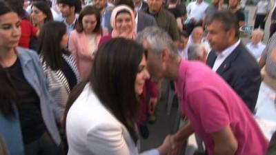 Bakan Sarıeroğlu vatandaşlarla iftar yaptı