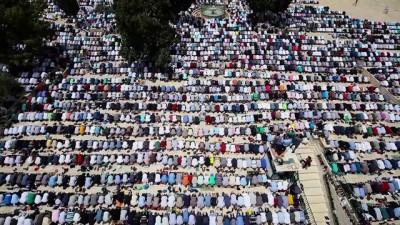 Mescid-i Aksa'da 200 bin kişi cuma namazı kıldı - KUDÜS