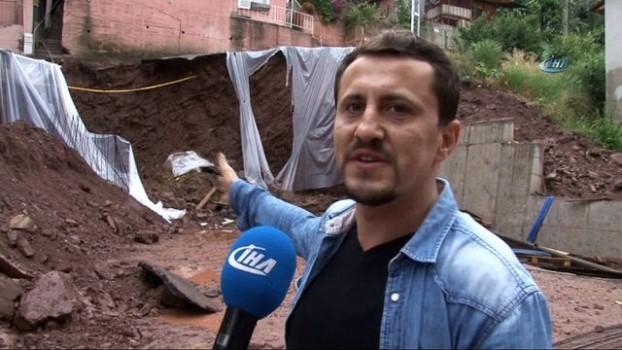 deprem -  İnşaat sırasında yol çöktü, 5 bina tahliye edildi