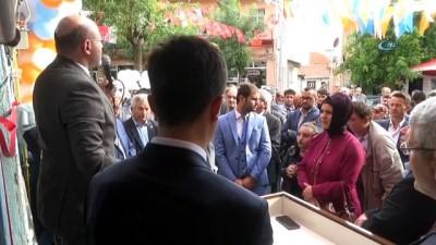 Seçim bürosunun açılış duasını Milletvekili İshak Gazel yaptı