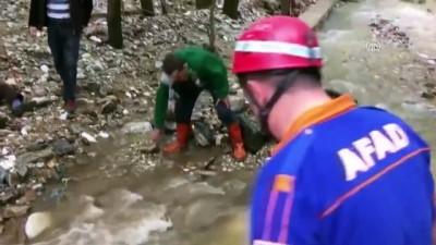 Sel nedeniyle mahsur kalan yaşlı adam kurtarıldı - BURSA