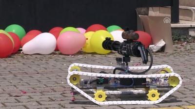 Lise öğrencisinden lazer güdümlü insansız tank prototipi - BURSA