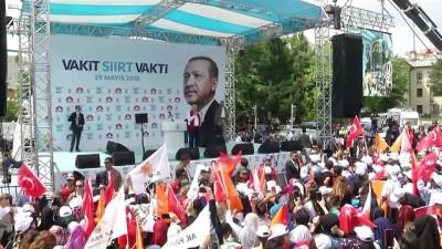 Başbakan Yıldırım: 'AK Parti olarak bölücülüğe, teröre, kardeş kavgasına asla müsaade etmedik' - SİİRT