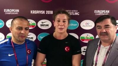 Milli güreşçi Yasemin Adar üst üste 3. kez Avrupa şampiyonu - KASPİYSK