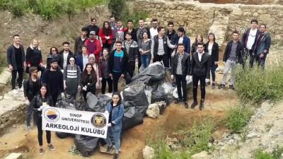 arkeolojik kazi - Tarihi alanda bir kamyon çöp toplandı - SİNOP
