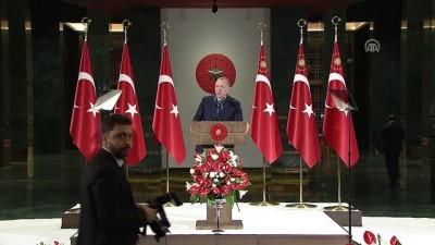 Cumhurbaşkanı Erdoğan: 'Bakanlıkların sayısı, benzer iş yapan kurumların birleştirilmesi gibi yenilikler seçimin ardından hayata geçirilecek' - ANKARA