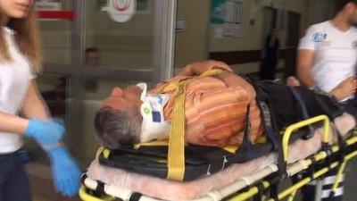 Hastaneden taburcu olur olmaz otomobil çarptı