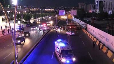 Başkentte metro inşaatında vinç kazası - ANKARA