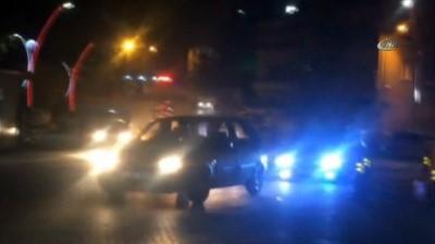 Asker uğurlaması konvoyunda trafikte drift yaptılar