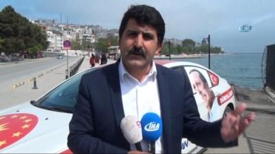 Cumhurbaşkanı Erdoğan'a destek için Türkiye turuna çıkan Özavcı Sinop'ta