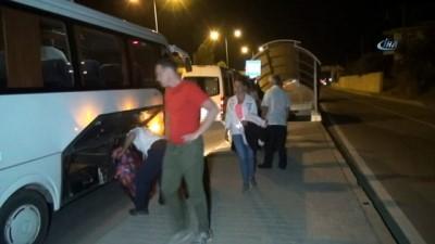 Manavgat'ta turistlerin kazası ucuz atlatıldı