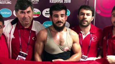 Avrupa Güreş Şampiyonası - Milli Güreşçi Demirtaş altın madalya kazandı (1) - KASPİYSK