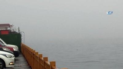 Deniz ulaşımına sis engeli, Şehir Hatları'nın tüm vapur seferleri iptal edildi