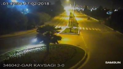 Samsun'da kural ihlali sonucu yaşanan trafik kazaları kamerada