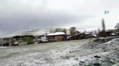 Erzurum'a Mayıs ayında kar yağdı