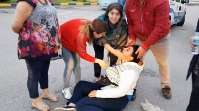 Engelli aracıyla kazaya maruz kalan kadın o anları İHA'ya anlattı