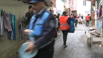 Sarıyer'de uyuşturucu zulası olarak kullanılan 8 kaçak yapı ve metruk bina yıkıldı