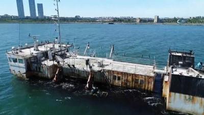 Karabatakların mesken tuttuğu hayalet gemiler havadan görüntülendi