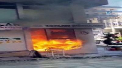 Kızıltepe'de tüp patlaması sonrasında korkutan yangın