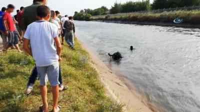 4 buçuk yaşındaki çocuk oyun oynadığı sırada sulama kanalına düştü