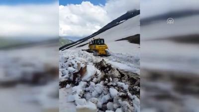 Camili'de haziran ayında kar temizleme çalışması - ARTVİN