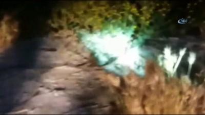 Evin kapsını saran yılan, itfaiye ekipleri tarafından yakalandı