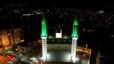 teravih namazi -  Sunrooflu camide Kadir Gecesi yoğunluğu havadan görüntülendi