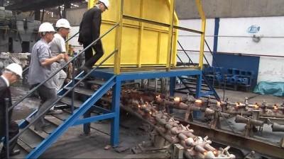 Bakan Özlü'den demir çelik fabrika ziyareti