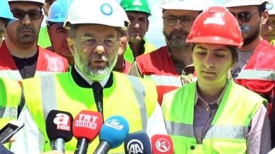 Başbakan Yardımcısı Akdağ, Erzurum Şehir Hastanesi inşaatında incelemelerde bulundu