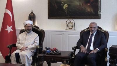 Diyanet İşleri Başkanı Erbaş, Van'da valilik ve Jandarma Asayiş Kolordu Komutanlığını ziyaret etti - VAN