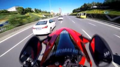 Yok Artık -  E-5 Karayolu'nda motosiklet terörü kamerada