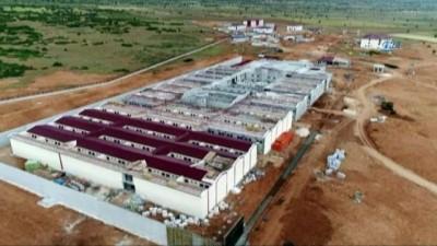 Elmalı'da 2 bin 300 mahkum kapasiteli 2 cezaevinin inşaatı havadan görüntülendi