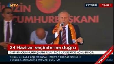 Muharrem İnce, HDP bayrağı dedi, CHP'liler yuhaladı