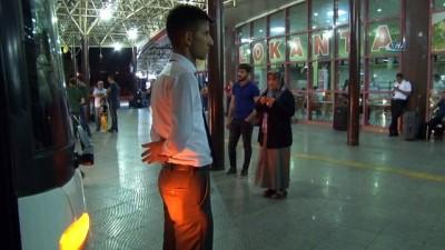 Konya Şehirlerarası Otobüs Terminalinde bayram yoğunluğu